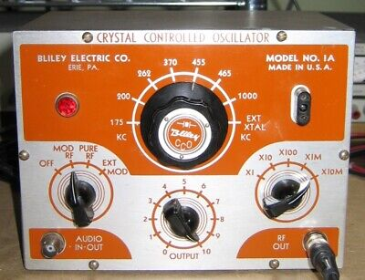 Rare Bliley Crystal Controlled Oscillator Model 1a Amplifier Tube  Awa Sss 238