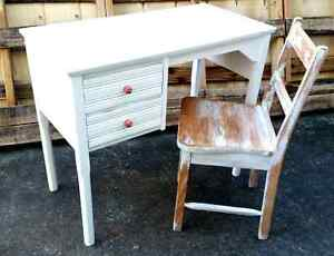 Shabby chic desk and rustic chair Sandgate Brisbane North East Preview