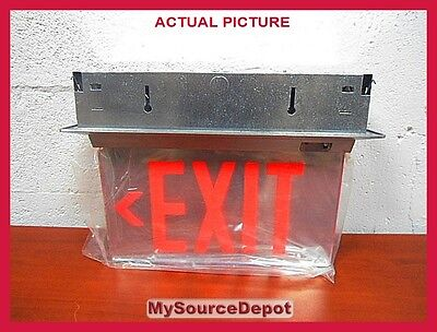 Isolite Elt Series Die-cast Aluminum Housing Acrylic Exit Sign Mirror Battery Bu