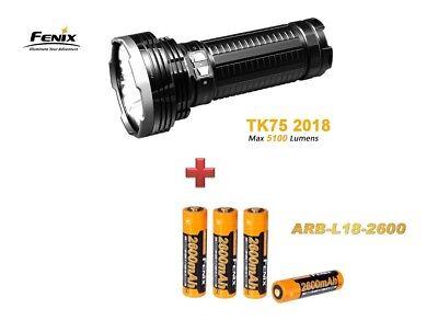 Fenix TK75 Mod. 2018 mit 5100 Lumen + 4 Fenix ARB-L18 2600mAh Akkus Neu OVP online kaufen
