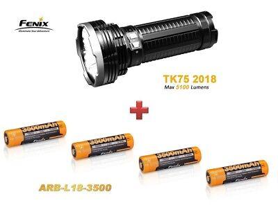 Fenix TK75 Mod. 2018 mit 5100 Lumen + 4 Fenix ARB-L18 3500mAh Akkus Neu OVP online kaufen