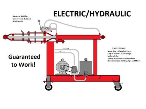 Tubing Bender Plans, Hossfeld No 2, Electric/Hydraulic