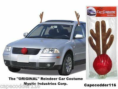 RUDOLPH REINDEER ANTLERS & NOSE CAR COSTUME**ALL VEHICLES**FREE SHIPPING](Car Reindeer Antlers)