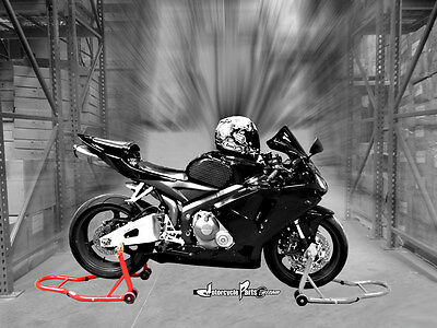 Motorcycle Sports Bike Jack Stand Red Rear Stand Swingarm Lift Auto Bike Shop