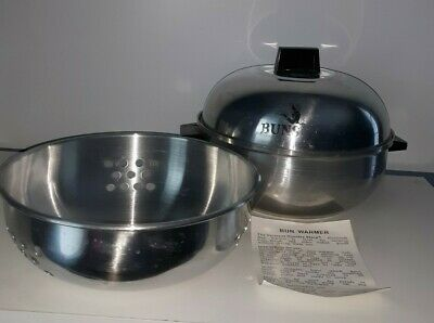 Rpi Group Aluminum Bun Warmer With Insert And Instructions Vintage Collectible