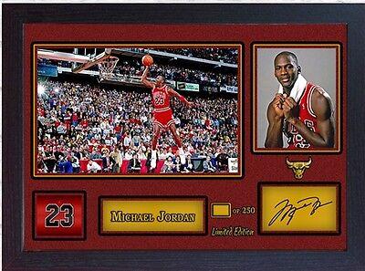 Michael Jordan Chicago Bulls signed autograph NBA Basketball Memorabilia Framed
