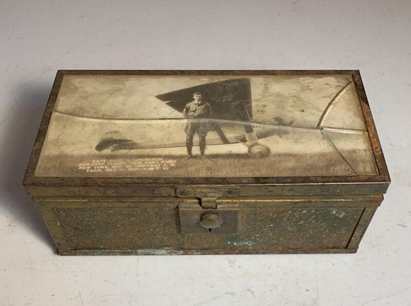 1927 BOX Real Photo CHARLES LINDBERGH SPIRIT of ST LOUIS American Aviation Hero