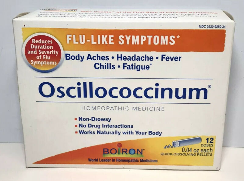 Boiron Oscillococcinum Homeopathic Medicine 12 Doses 0.04 oz each exp 2023+ 8342