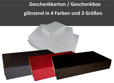 Geschenkkarton / Geschenkbox in 4 Farben, rot, blau, weiß, schwarz in 3 Größen