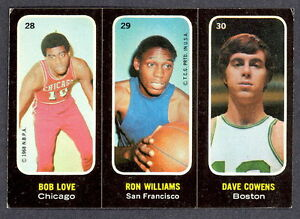 1971-TOPPS-BASKETBALL-STICKERS-EX-NM-28-29-30-DAVE-COWENS-RC-BOB-LOVE-WILLIAMS