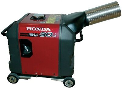 Honda EU3000is generator exhaust system. Directs exhaust outside enclosure.