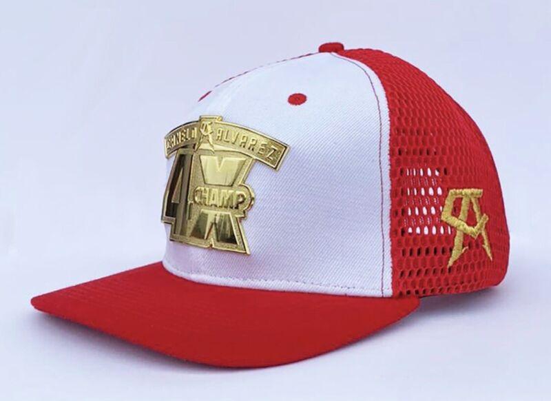 Canelo Alvarez Official Hat 4x champ 🇲🇽🇲🇽snap back design 100% wool