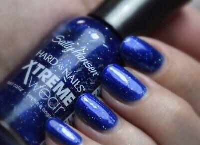 NEW Sally Hansen Hard as Nails Xtreme Wear Nail Polish 423 Blue Boom Manicure .4