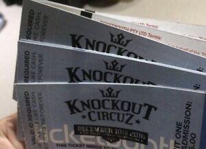 10 x hardcopy hsu knockout circuz tickets for sale unactivated Regents Park Auburn Area Preview