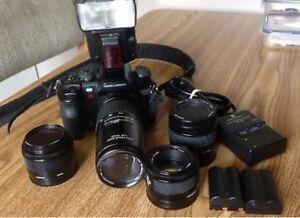 Minolta 7D Digital Camera With Flash And 4 Lenses for rent