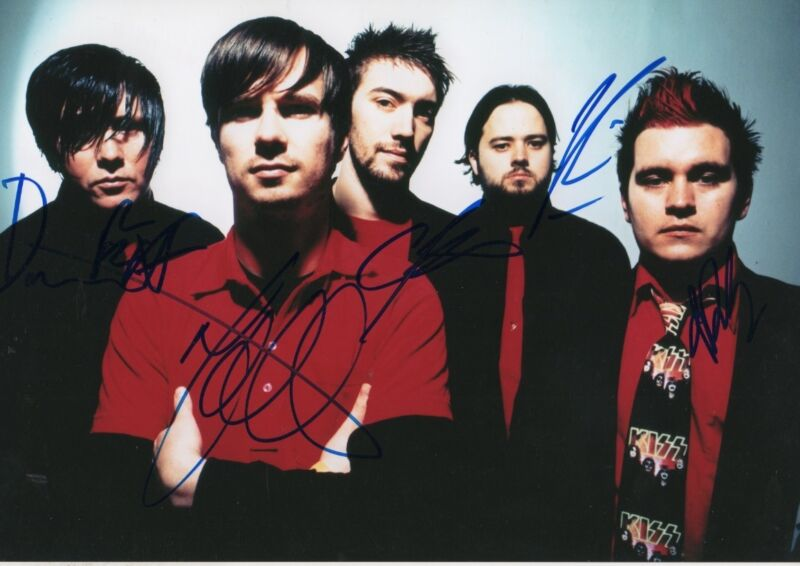 Funeral for a Friend Band full signed 8x12 inch photo autographs