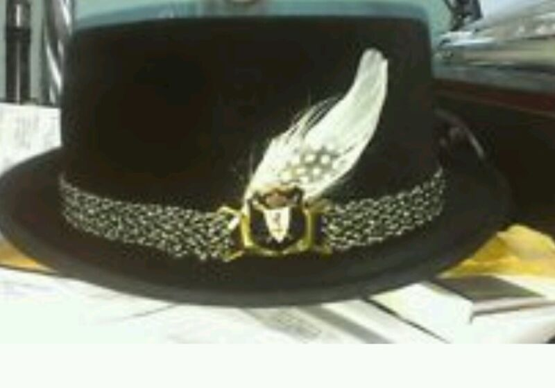 Hat Band Feather Hatband Feathers - Classic Fedora Trim - white black feathers