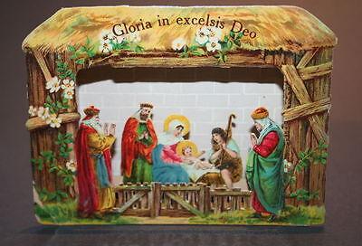 uralte original Papierkrippe Gloria in Exelsis Deo printed in Germany ganz klein