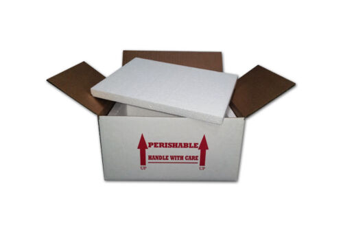 "One Foam Insulated Shipping Box  15"" x 11"" x 7""    With (( 3/4"" )) Foam"