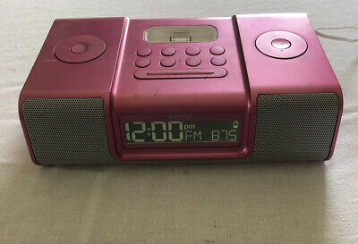 Silver iHome iP9 Alarm Clock Radio, Apple iPod & iPhone Docking Station