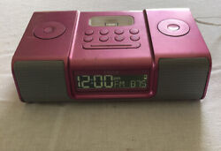 Silver iHome iP9 Alarm Clock Radio, Apple iPod & iPhone Docking Station