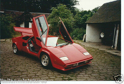 Lamborghini Countach Sport Replica 1987 Original Photograph Front View