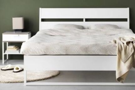 Mattress, bed frame and bedside table   Beds   Gumtree Australia ...