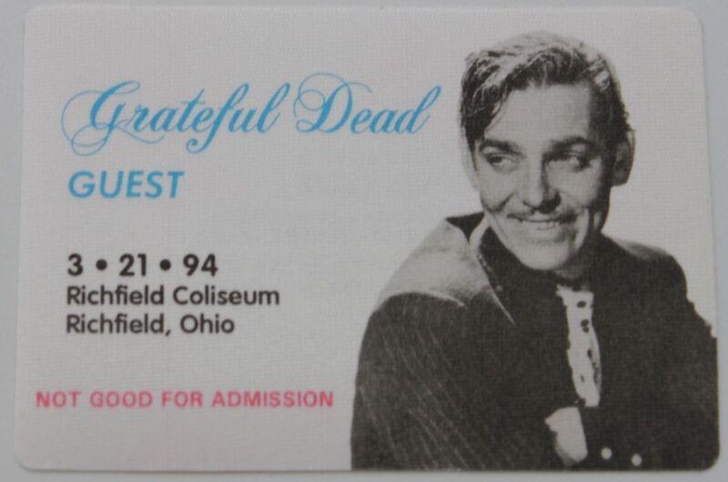 Grateful Dead Backstage Pass 3-21-94 Richfield Coliseum Ohio