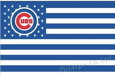 Chicago Cubs 3x5 Ft American Flag Baseball New In Packaging (Cubs Flag)