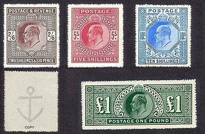 King Edward VII High Value Set of 4 (forgeries)