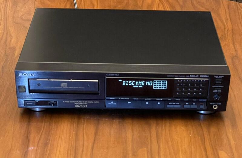 Sony CDP-507ESD ES CD Player with Digital Out & TDA1541A-R1 DACs 507ES