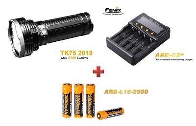 Fenix TK75 Mod. 2018 + Fenix ARE-C2+ Ladegerät + 4 Fenix ARB-L18 Akkus  online kaufen
