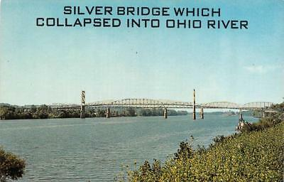 SILVER BRIDGE~Collapsed 1967   KNAUGA, Ohio~POINT PLEASANT, New Jersey  Postcard