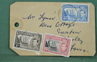 ST HELENA COVER LUGGAGE LABEL TO ENGLAND    (A141)