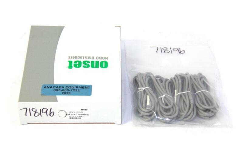 Onset ZW-006 HOBO 4-Channel/4-Analog-Port Data Node w/ Sensors NEW (7839) R