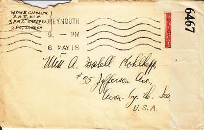 1918  Hms Sarepta  Weymouth  England  Censored  See Remark  N1225