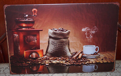 - COFFEE Rich Fragrance Artistic Poster Retro Metal Tin Signs Pub Bar Wall Plaque