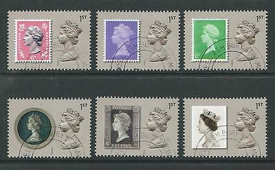 GREAT BRITAIN 2017 THE MACHIN DESIGN ICON SET OF 6 EX MINISHEET FINE USED