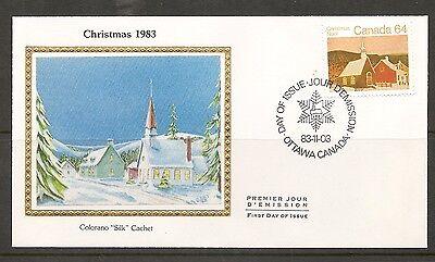 Canada SC # 1006 Rural Church FDC. Colorano Silk Cachet