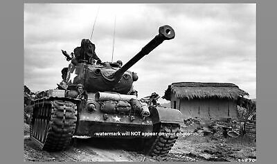 Korean War M46 Tank PHOTO US Marines, M-46 Patton Crew, Kumko, Korea