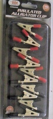 Alligator Clips 10 Pk Of Insulated Black Red Roach Clips 4 Lot Cmy Other Items
