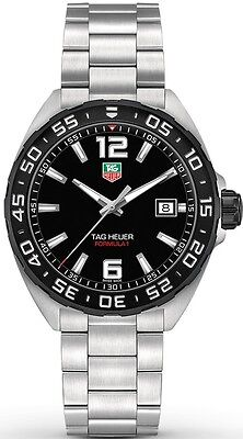 WAZ1110.BA0875 TAG Heuer Formula 1 Men's Stainless Steel Watch Quartz Black Dial