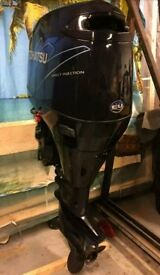 Tohatsu 115 HP TLDI outboard in excellent condition. Very Low Hours For RIB