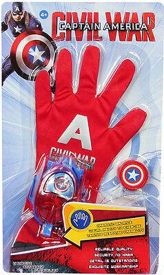 Captain America Handschuhe (Avengers Captain America Kapitän Amerika Handschuh - schießt Scheiben NEU OVP)