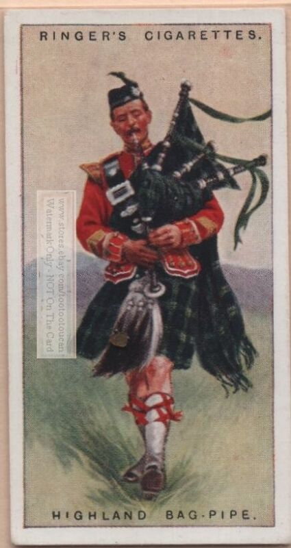 Great Highland Bagpipe Scotland British Musical Instrument 1920sTrade Ad Card