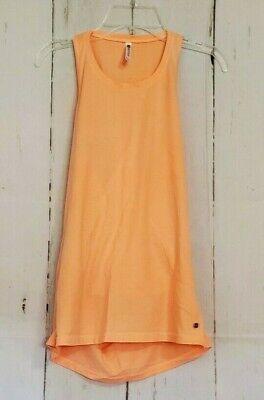 FABLETICS KERRY TANK Women's Size XXS Draped Back Melon Orange Yoga