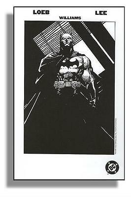 BATMAN 608 (MINT) - HUSH PROMO CARD Art by JIM LEE (FREE SHIPPING)*