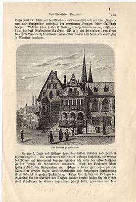 Halberstadt - Sachsen-Anhalt original Holzstich um 1880
