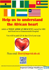 Adults of WEST AFRICAN descent wanted for 3D heart scan
