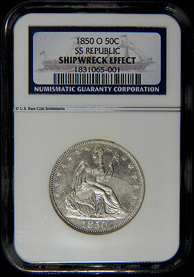 1850-O HALF DOLLAR SS REPUBLIC SHIPWRECK EFFECT NGC